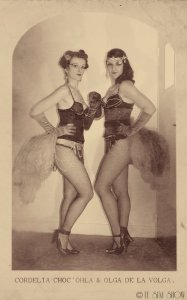 Cordélia Choc'Ohla & Olga de la Volga par Sarah-Lou Marty. © Le SLM Show