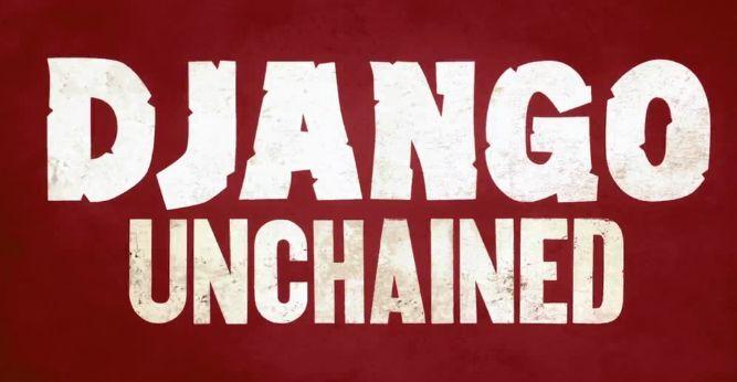 "Logo du film ""Django Unchained"", Quentin Tarantino, 2013."