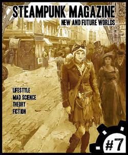 """Couverture du """"Steampunk Magazine"""" #7."""