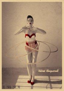 Velvet Hoop'n'roll par Sarah-Lou Marty. © Le SLM Show
