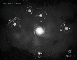 Carte de la galaxie Mirabel. © Zenith/JD Netto