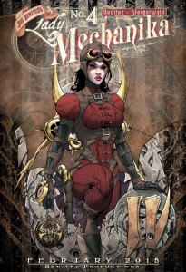 Affiche Lady Mechanika. © Joe Benitez