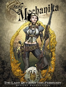 Couverture du premier tome de Lady Mechanika. © Joe Benitez