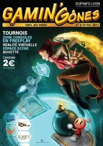 Affiche de la première édition des Gaming'Gônes à Lyon.