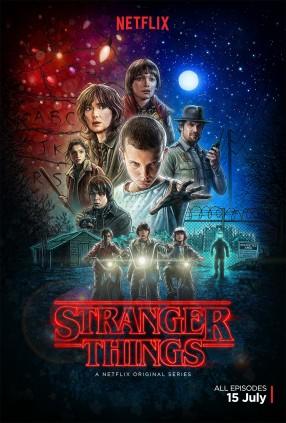 Affiche pour la saison 1 de la Série Strager Things. © Netflix