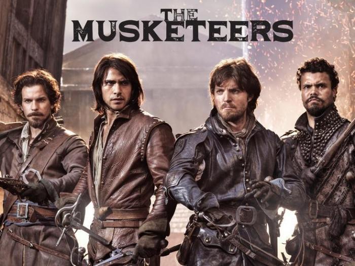 """Affiche pour la série """"The Musketeers"""" de la BBC."""