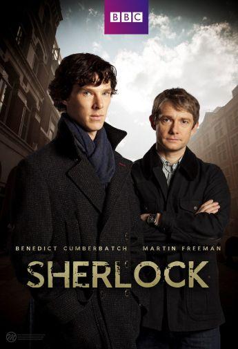 """Affiche pour la première saison de """"Sherlock"""", produit par la BBC."""