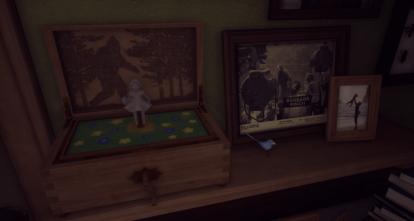 Capture d'écran d'une étagère dans la maison.