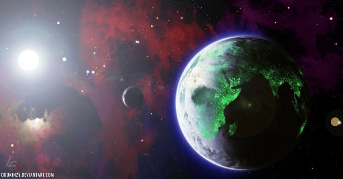 """Tiberium Infested Terra"", un fanart d'Okukinzy."