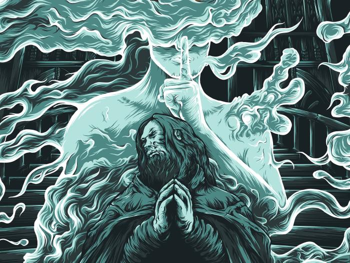 "Couverture de l'album ""Eventide"", sorti en novembre 2018."