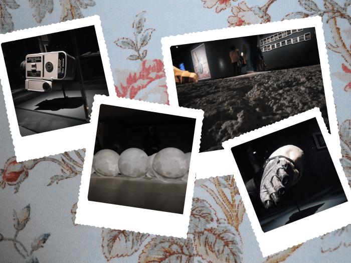 """Photos de l'exposition """"La Lune, du voyage réel aux voyages imaginaires"""" au Grand Palais."""