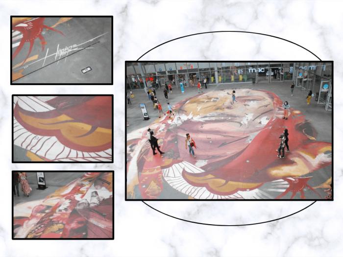 Fresque d'Hopare au centre commercial Westfield Forum des Halles.